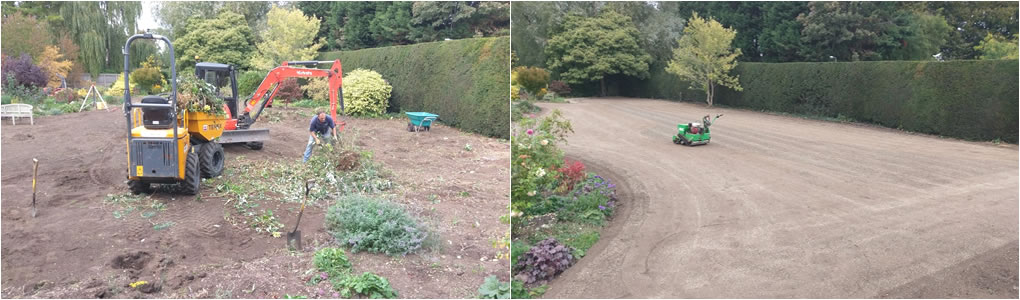 Garden clearance and lawn seeding